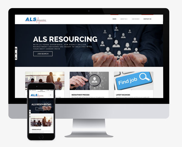 ALS Resourcing site built by planet amazing