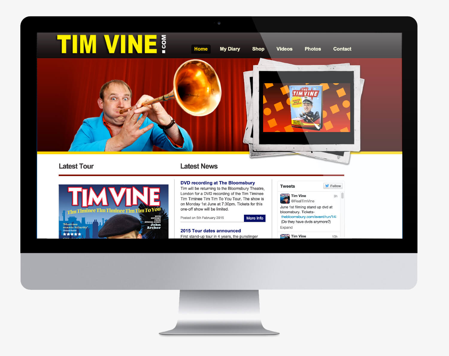 Old Tim Vine website