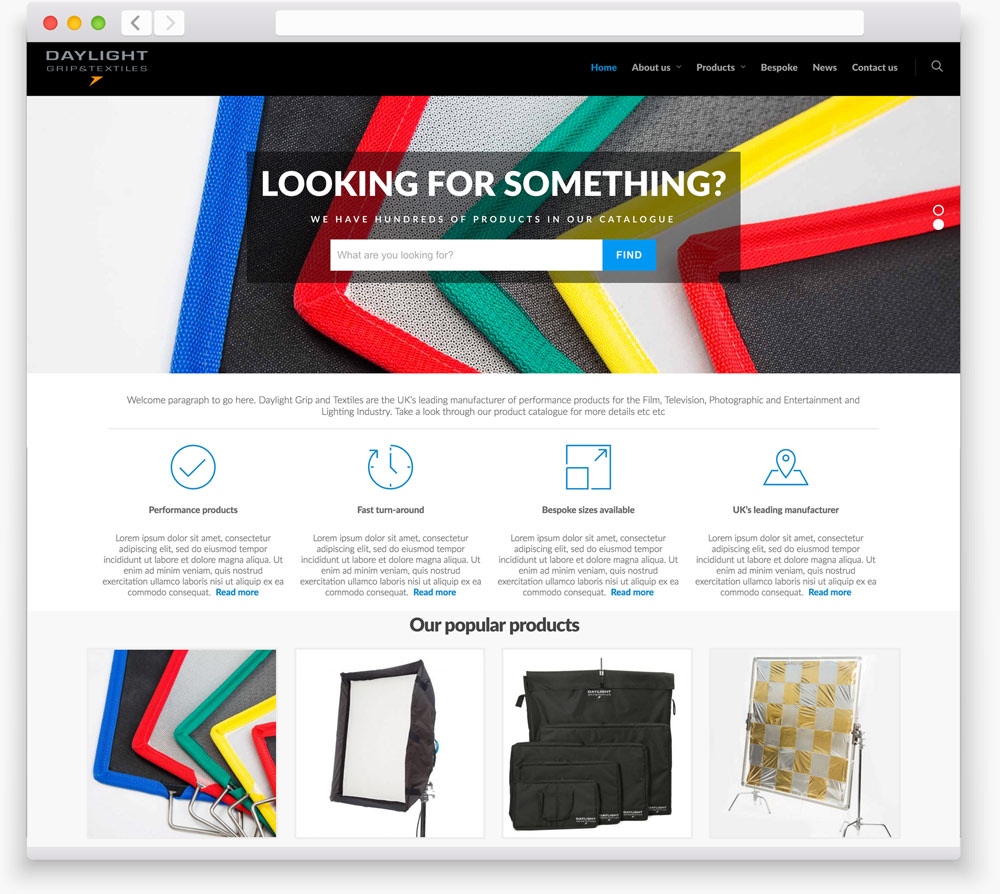 Daylight Manchester web design